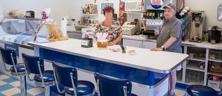 Soda Fountain and Ice Cream at Omro Pharmacy Near Oshkosh, WI