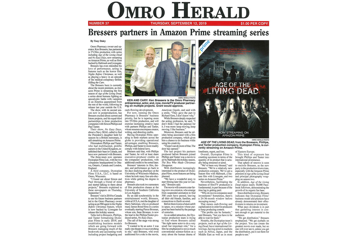 Article on Ken Bressers from Omro Pharmacy